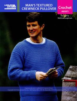 ePattern Man's Textured Crewneck Pullover