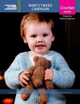 ePattern Baby's Tweed Cardigan
