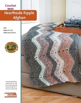 ePattern Hearthside Ripple Afghan