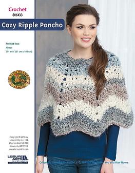 ePattern Cozy Ripple Poncho