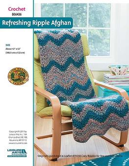 ePattern Refreshing Ripple Afghan