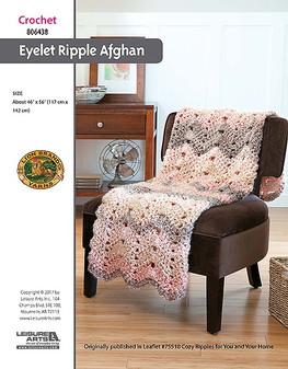 ePattern Eyelet Ripple Afghan