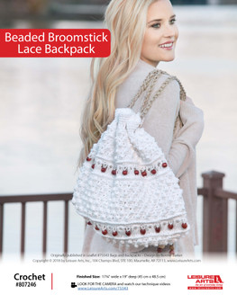 ePattern Beaded Broomstick Lace Backpack