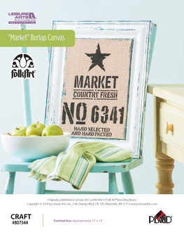 "ePattern ""Market"" Burlap Canvas"