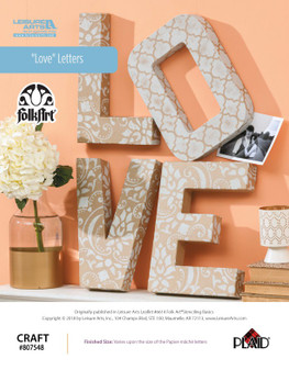 Love letters crafting ePattern