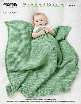 bordered square crochet baby afghan ePattern