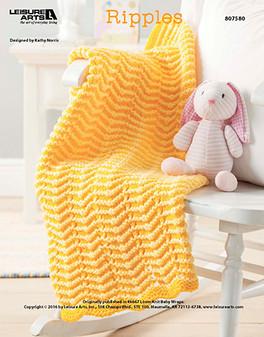 Ripples crochet baby afghan ePattern