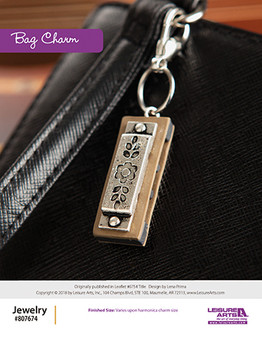 Revamp your accessories with a little piece of bling. Bag Charm ePattern originally published in Leaflet #6754 Wanderlust Jewelry design by Lena Prima.