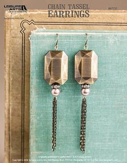 ePattern Chain Tassel Earrings