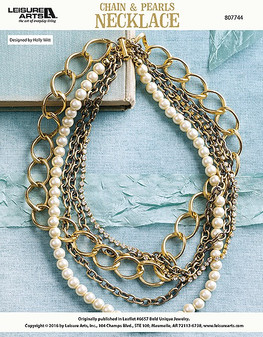 ePattern Chain & Pearls Necklace