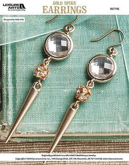 ePattern Gold Spike Earrings