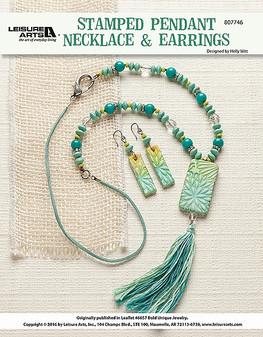 ePattern Stamped Pendant Necklace & Earrings