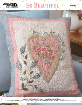 Show yourself some self-love, or present this pillow as gift to the one who makes your life beautiful and bright. Either way, this quilted pillow pattern is here to give anyone who sees it a sweet and soft boost of happiness. Designed by Tricia Cribbs.