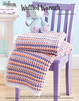 Wonderfully and lovingly designed, baby will love being wrapped in this sweet afghan! Designed by Becky Stevens.