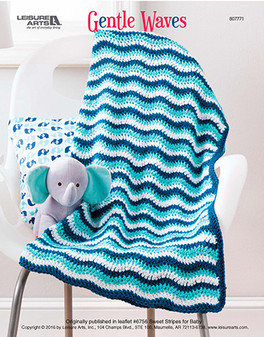 Rock baby to sleep all snuggled and wrapped up in this Gentle Waves afghan crochet. Designed by Becky Stevens.
