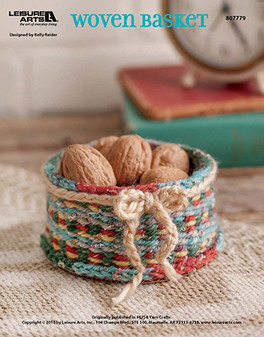Used as centerpiece or a sweet storage nook to place some of your favorite nuts / candy around the house, make your next crafting project one that is simple and easy to make with a little yarn. Designed by Kelly Reider.