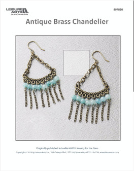 Stay stylish with a pair of brass chandelier earrings.