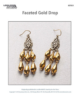 Craft and design dazzling gold drop earrings. Give them as gifts or keep them for your own fabulous self.