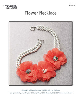 Floral flower necklace featuring pearl beads. It'll be like you're a mermaid on land with this gorgeous design.