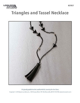 A geometrically-pleasing and gorgeous black necklace.