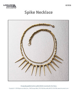 A striking gold spike necklace. Use it to edge out your outfit or give it as a gift to your most adventurous friend.