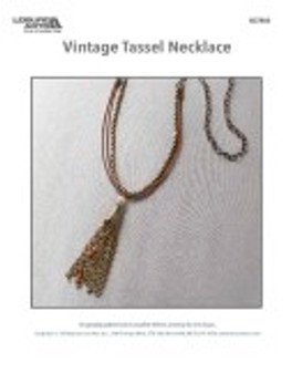 Take and create your own (or for a gift) bronze-colored tassel necklace.