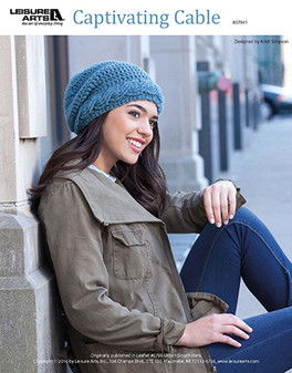 Take your own step up into the modern and cool fashion world with this Captivating Cap crochet. Designed by Kristi Simpson and crocheted using medium weight yarn and Easy or Easy-Plus skill Level .