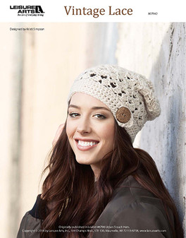 Everyone loves a good vintage lace, so why not crochet one to go with the perfect cool-weather outfit? Designed by Kristi Simpson and crocheted using medium weight yarn and Easy or Easy-Plus skill Level .