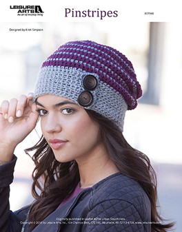 Perfect for a day out on the town when weather gets chilly, crochet your own Pinstripes slouch hat with ease. Designed by Kristi Simpson and crocheted using medium weight yarn and Easy or Easy-Plus skill Level .