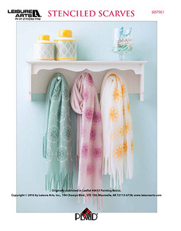 Craft painting is easy to learn for all ages, so start out in the most stylish way by making your own (or even for a gift!) Stenciled Scarves.