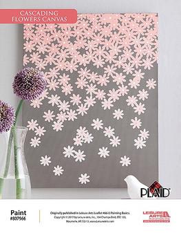 ePattern Cascading Flowers Canvas