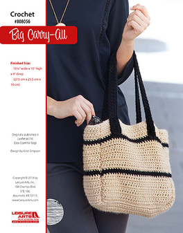 Crochet a bag that is perfect for carrying it all or giving to someone who does it all.