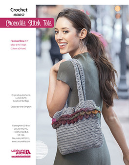 Crochet your own crocodile stitch bag with ease. You'll be up with the latest trends but still standing out.