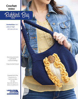 Rock a ruffled bag with your favorite colors; perfect for any outing! Designed by Kristi Simpson.