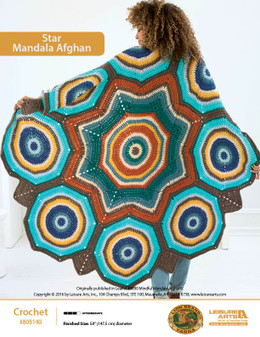 ePattern Star Mandala Afghan