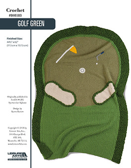 For the golfing enthusiast in your life, crochet this one-of-a-kind afghan. Designed by Karen Barnes.