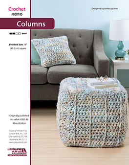 Crazy about cotton or crochet columns? Then start on this decor project that is sure to add a cozy feeling to your favorite corner.