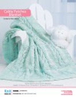 This knit cable patches blanket is sure to become a family heirloom.
