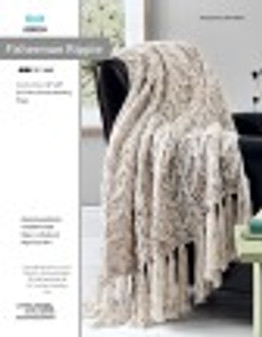 Reel in your next project and get ready to knit this throw with ease! Designed by Rita Weiss.