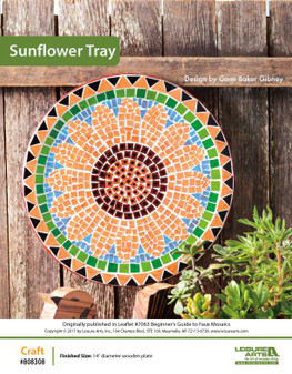 Craft a stunning and colorful tray, that features a simple yet elegant sunflower, to hang or display wherever you please. Designed by Conn Baker Gibney.