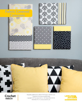 """9"""" x 12"""" (23 cm x 30 cm). These designs by Lisa Lancaster and Kelly Reider, was originally published in Project with Pre-Cuts (Leisure Arts Leaflet # 7187)."""