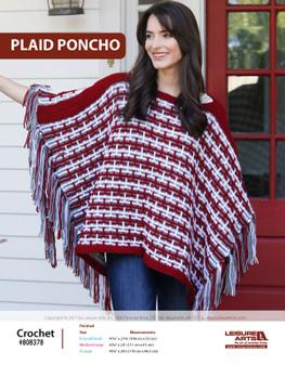 ePattern Plaid Poncho