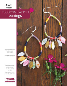 Get crafty with Floss Wrapped Earrings from #7235 Boho Jewelry!