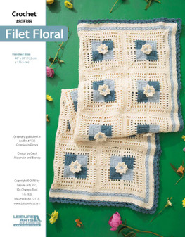 Crochet beauty a project at a time with Filet Floral!