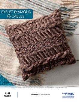 Create a beautiful project with an instant download with Eyelet Diamond and Cables ePattern!