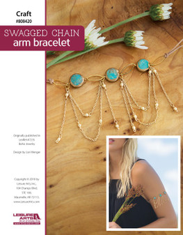 Create a beautiful Swagged Chain Arm Bracelet!