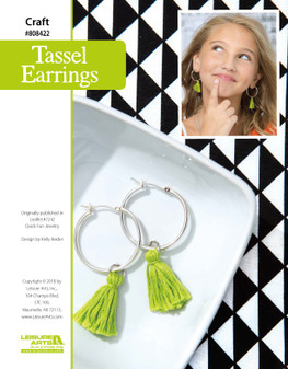 Craft beautiful Tassel Earrings! This quick and fun design will look trendy in the most unique way.