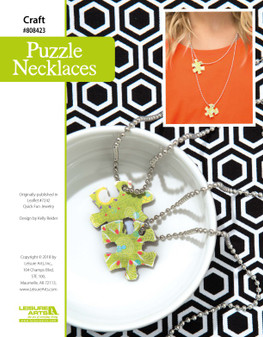 Craft and create cute Puzzle Necklaces! Give to a friend or complete the puzzle for yourself, either way you're going to be able to make a cute, quirky necklace.