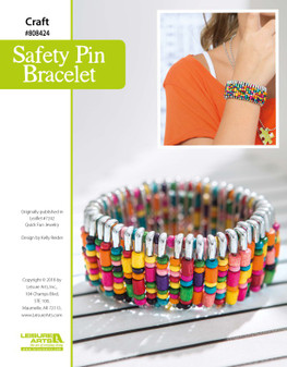 Craft and create a beautiful Safety Pin Bracelet! This gorgeous design is completely customizable and super sustainable.