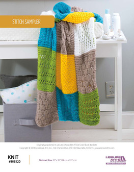 Knit with a beautiful project Stitch Sampler!